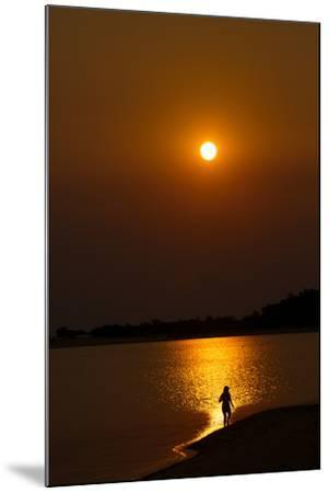 Sunset over the Tapajos River, Amazon, Alter Do Chao, Para, Brazil, South America-Alex Robinson-Mounted Photographic Print