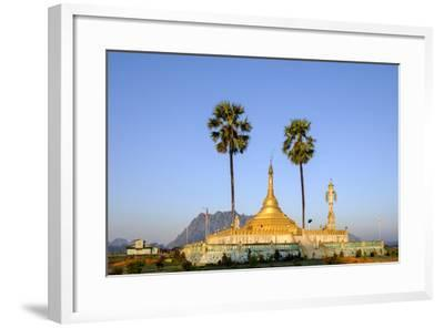 Buddhist Pagoda in a Karstic Landscape, Hpa An, Kayin State (Karen State), Myanmar (Burma), Asia-Nathalie Cuvelier-Framed Photographic Print