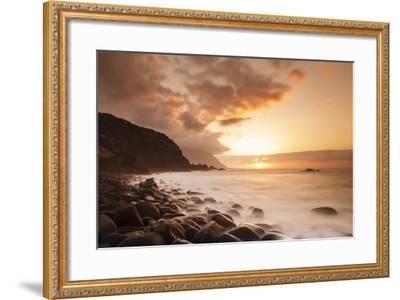 Coast Near Los Llanillos at Sunset, El Golfo Valley, El Hierro, Canary Islands, Spain-Markus Lange-Framed Photographic Print