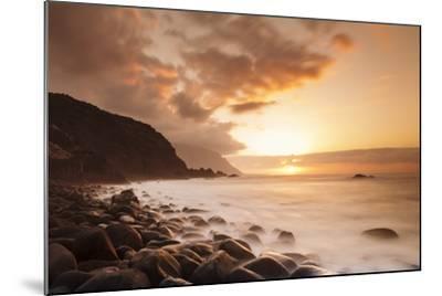 Coast Near Los Llanillos at Sunset, El Golfo Valley, El Hierro, Canary Islands, Spain-Markus Lange-Mounted Photographic Print