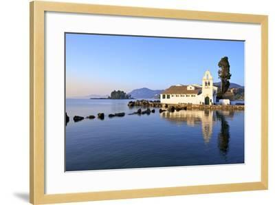 Vlacherna Monastery, Kanoni, Corfu, the Ionian Islands, Greek Islands, Greece, Europe-Neil Farrin-Framed Photographic Print