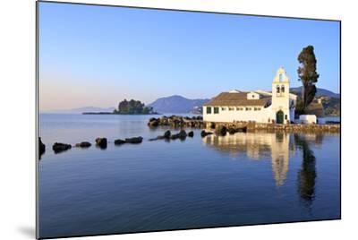 Vlacherna Monastery, Kanoni, Corfu, the Ionian Islands, Greek Islands, Greece, Europe-Neil Farrin-Mounted Photographic Print