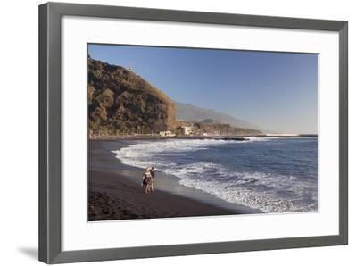 Playa Del Puerto Beach, Puerto De Tazacorte, La Palma, Canary Islands, Spain, Atlantic, Europe-Markus Lange-Framed Photographic Print