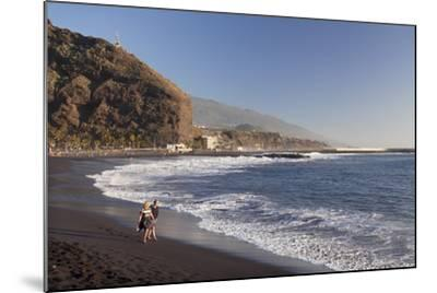Playa Del Puerto Beach, Puerto De Tazacorte, La Palma, Canary Islands, Spain, Atlantic, Europe-Markus Lange-Mounted Photographic Print