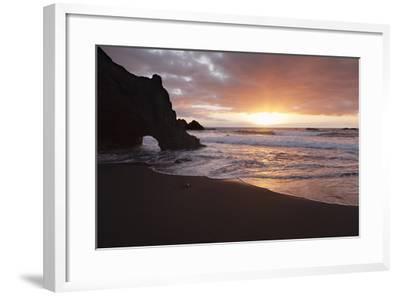 Zamora Beach at Sunset (Playa De La Zamora) Near Fuencaliente, La Palma, Canary Islands, Spain-Markus Lange-Framed Photographic Print