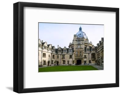 Brasenose College Front Quad, Oxfordshire-Alex Robinson-Framed Photographic Print
