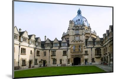 Brasenose College Front Quad, Oxfordshire-Alex Robinson-Mounted Photographic Print