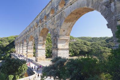 Pont Du Gard, Roman Aqueduct, Languedoc-Roussillon, Southern France, France-Markus Lange-Framed Photographic Print