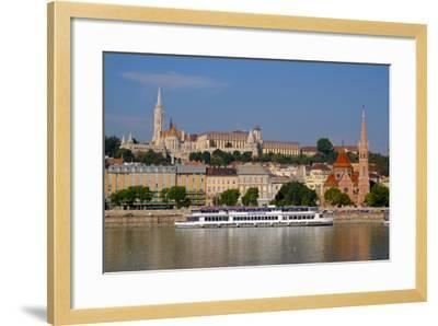 The Capuchin Church and in Foreground Matthias Church and Fishermen's Bastion, Hungary-Carlo Morucchio-Framed Photographic Print
