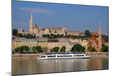 The Capuchin Church and in Foreground Matthias Church and Fishermen's Bastion, Hungary-Carlo Morucchio-Mounted Photographic Print