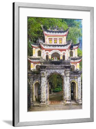 Gate of Bich Dong Pagoda, Hoa Lu District, Ninh Binh Province, Vietnam, Indochina, Southeast Asia-Jason Langley-Framed Photographic Print