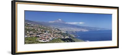 Orotava Valley to North Coast and Puerto De La Cruz and Pico Del Teide, Canary Islands, Spain-Markus Lange-Framed Photographic Print