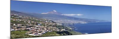 Orotava Valley to North Coast and Puerto De La Cruz and Pico Del Teide, Canary Islands, Spain-Markus Lange-Mounted Photographic Print