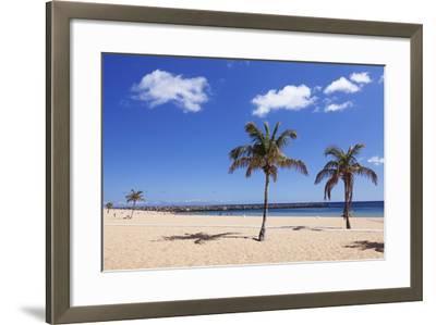Playa De Las Teresitas Beach, San Andres, Tenerife, Canary Islands, Spain, Europe-Markus Lange-Framed Photographic Print