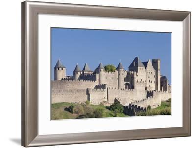 La Cite, Medieval Fortress City, Carcassonne, Languedoc-Roussillon, France-Markus Lange-Framed Photographic Print