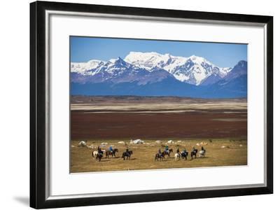 Horse Trek on an Estancia (Farm), El Calafate, Patagonia, Argentina, South America-Matthew Williams-Ellis-Framed Photographic Print