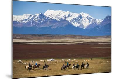Horse Trek on an Estancia (Farm), El Calafate, Patagonia, Argentina, South America-Matthew Williams-Ellis-Mounted Photographic Print