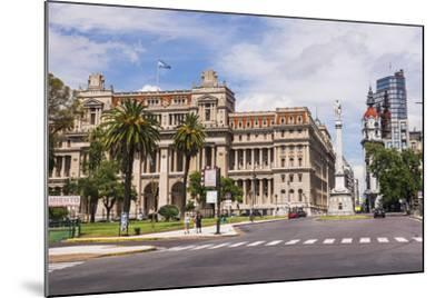 Teatro Colon in Plaza Lavalle (Lavalle Square), Buenos Aires, Argentina, South America-Matthew Williams-Ellis-Mounted Photographic Print