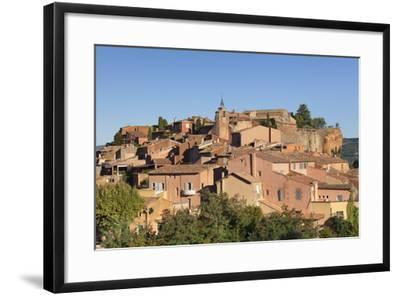 Sunrise over Hilltop Village of Roussillon, Southern France-Markus Lange-Framed Photographic Print