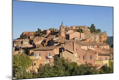 Sunrise over Hilltop Village of Roussillon, Southern France-Markus Lange-Mounted Photographic Print