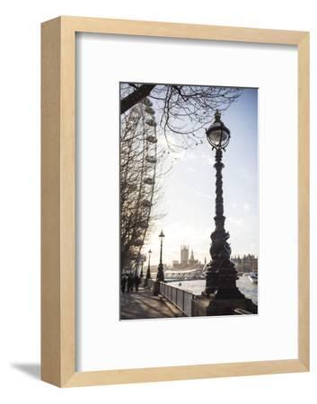 Dolphin Lamp Post, South Bank, London, England, United Kingdom, Europe-Matthew Williams-Ellis-Framed Photographic Print