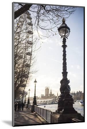 Dolphin Lamp Post, South Bank, London, England, United Kingdom, Europe-Matthew Williams-Ellis-Mounted Photographic Print
