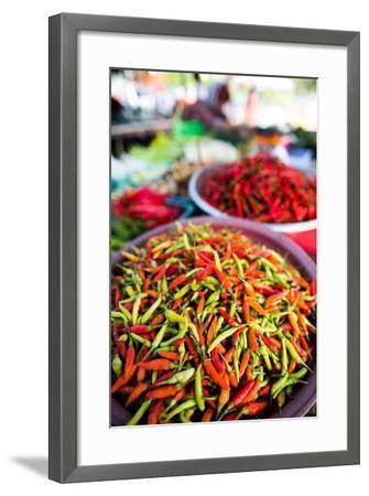 Chillies in Market, Phuket, Thailand, Southeast Asia, Asia-John Alexander-Framed Photographic Print