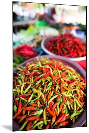 Chillies in Market, Phuket, Thailand, Southeast Asia, Asia-John Alexander-Mounted Photographic Print