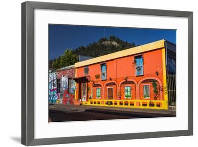 Colourful Buildings in Barrio Bellavista (Bellavista Neighborhood), Santiago Province, Chile-Matthew Williams-Ellis-Framed Photographic Print