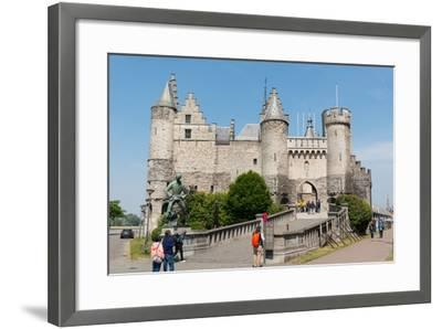 Het Steen, a Medieval Fortress in Antwerp, Belgium, Europe-Carlo Morucchio-Framed Photographic Print