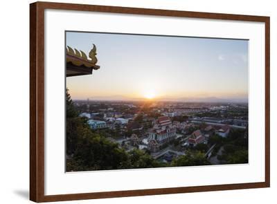 Wat Thammikaram Worawihan Temple, Prachuap Kiri Khan, Thailand, Southeast Asia, Asia-Christian Kober-Framed Photographic Print