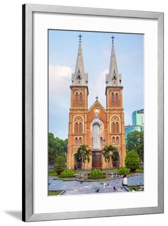 Saigon Notre-Dame Basilica Cathedral, Ho Chi Minh City (Saigon), Vietnam, Indochina, Southeast Asia-Jason Langley-Framed Photographic Print