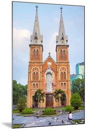 Saigon Notre-Dame Basilica Cathedral, Ho Chi Minh City (Saigon), Vietnam, Indochina, Southeast Asia-Jason Langley-Mounted Photographic Print