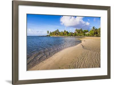 Muri Beach at Sunrise, Rarotonga, Cook Islands, South Pacific, Pacific-Matthew Williams-Ellis-Framed Photographic Print