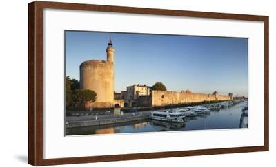 Tour De Constance Tower and City Wall at Sunset, Languedoc-Roussillon-Markus Lange-Framed Photographic Print