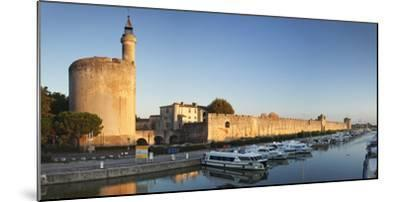 Tour De Constance Tower and City Wall at Sunset, Languedoc-Roussillon-Markus Lange-Mounted Photographic Print