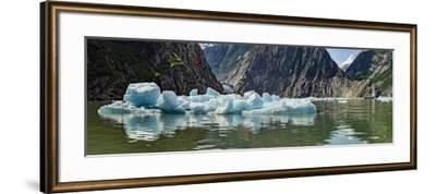 Icebergs Floating on Water of Tracy Arm Fjord, Southeast Alaska, Alaska, Usa--Framed Photographic Print