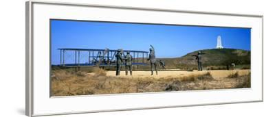 Wright Flyer Sculpture at Wright Brothers National Memorial, Kill Devil Hills, Kitty Hawk--Framed Photographic Print