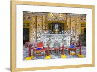 Interior of Tomb of Khai Dinh (Lang Khai Dinh), Thua Thien-Hue Province, Vietnam-Jason Langley-Framed Photographic Print