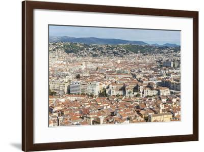 Cityscape Skyline View over the City of Nice, French Riviera-Chris Hepburn-Framed Photographic Print