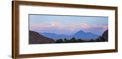 Sunset at Licancabur Volcano, Stratovolcanos in the Atacama Desert-Matthew Williams-Ellis-Framed Photographic Print