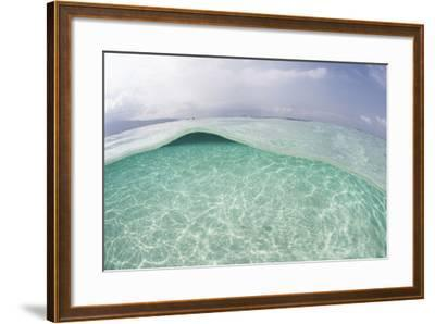 Sunlight Ripples across a Shallow Sand Flat in Indonesia-Stocktrek Images-Framed Photographic Print