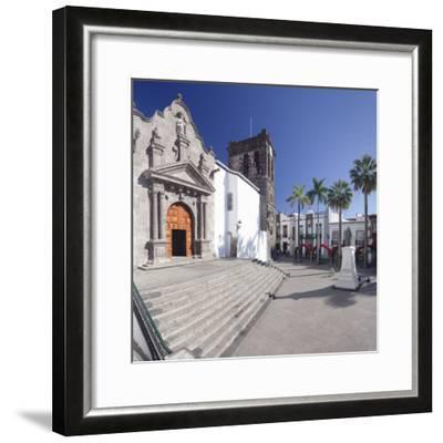 Iglesia De El Salvador Church at Plaza De Espana, Spain-Markus Lange-Framed Photographic Print