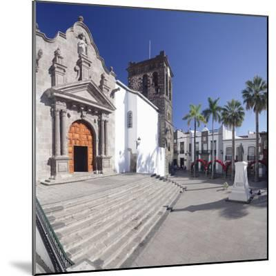 Iglesia De El Salvador Church at Plaza De Espana, Spain-Markus Lange-Mounted Photographic Print