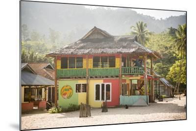Rasta (Rastafarian) Coloured Beachfront Accommodation at Sungai Pinang, Indonesia-Matthew Williams-Ellis-Mounted Photographic Print