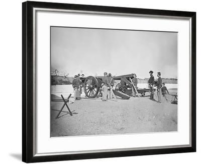 Artillery Drill in Fort During the American Civil War-Stocktrek Images-Framed Photographic Print