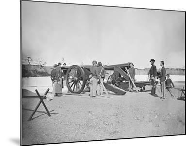 Artillery Drill in Fort During the American Civil War-Stocktrek Images-Mounted Photographic Print