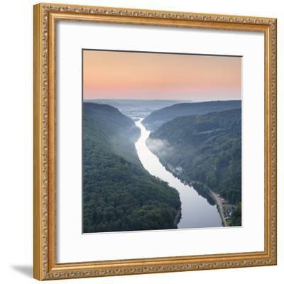 Saar Loop (Grosse Saarschleife) Seen from Cloef Viewing Point, Germany-Markus Lange-Framed Photographic Print