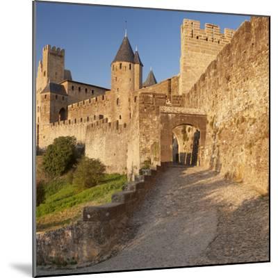 La Cite, Medieval Fortress City, Carcassonne, Languedoc-Roussillon, France-Markus Lange-Mounted Photographic Print