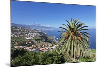 Orotava Valley to the North Coast and Puerto De La Cruz Und Den Teide, Canary Islands, Spain-Markus Lange-Mounted Photographic Print